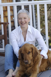Barbara Gee with her dog Toby